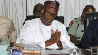 Aljahi Adamu Mu'azu a wani taron PDP