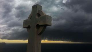 A stone cross in Australia