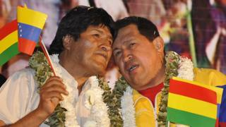 Evo y Chávez