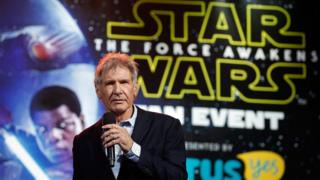 Harrison Ford at a Star Wars event