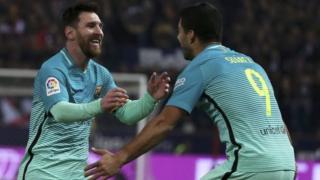 Messi na Suarez wote walifunga katika mchezo huo