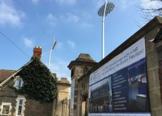 Floodlights at Gloucestershire County Cricket ground
