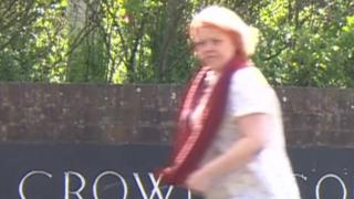 Lucy King arriving at Maidstone Crown Court for trial