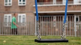 Swing in deprived area