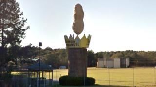 The peanut monument in the US city of Ashburn, Georgia