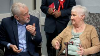 Jeremy Corbyn and Pamela Hancock