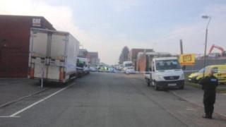 Police cordon on Cato Street, Birmingham