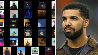 Drake became the face of Spotify's playlists