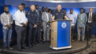 Victoria's police chiefs and African-Australian community leaders hold a press conference in Melbourne last week
