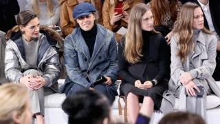 Katie Holmes, David Lauren, Lauren Bush Lauren and Hilary Swank