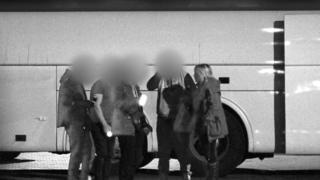 secret filming on bus