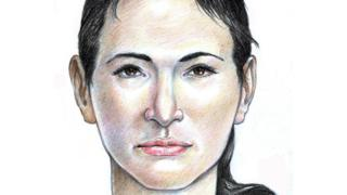 Un dibujo forense de la mujer Isdal actualizado
