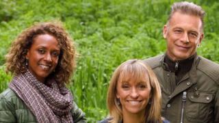 Presenters Gillian Burke, Michaela Strachan and Chris Packham