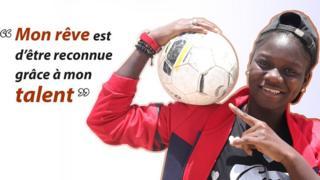 Marème, jeune footballeuse sénégalaise.