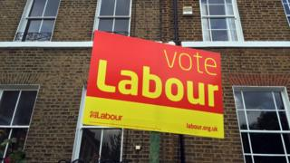A Vote Labour sign