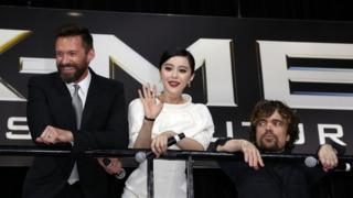 Fan Bingbing at an X-Men film press event