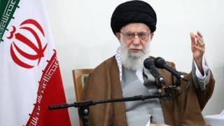 Ali Khamenei speaks during a meeting in Tehran on 15 January 2020
