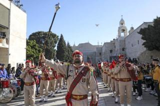 Рождественский парад в Вифлееме