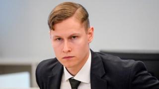 Philip Manshaus in court, 7 May 20