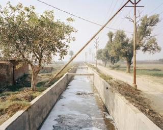 Irrigation channel, Kanpur, India, 2014.