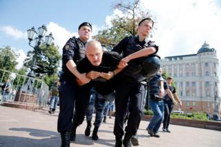 Задержания на акции оппозиции в Москве 27.07.19