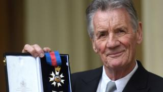 Sir Michael Palin after being knighted