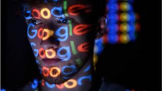 google image on a man's face