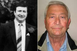 Terry Perkins pictured in the 1980s and in 2014