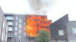 Barking fire: Blaze destroys 20 flats in east London