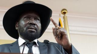 Le président sud soudanais Salva Kiir.