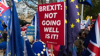 مظاهرة من وقفة احتجاجية مناهضة للخرةج من الاتحاد الأوروبي