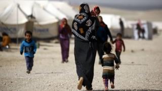Irak-Suriye sınırında mülteciler
