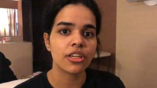 A screengrab from a video released to AFPTV via the Twitter account of Rahaf Mohammed al-Qunun