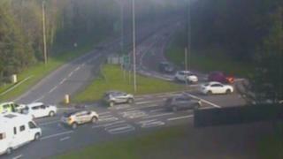 A traffic camera still of the A48