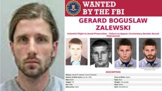 Gerard Zalewski and FBI poster