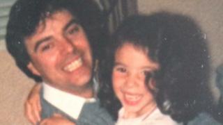 Dad Gerry and Monica Lennon when she was a child