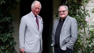 Prince of Wales and Dafydd Iwan