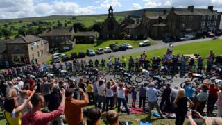 Tour de France in Reeth