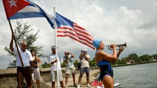 Перед заплывом с Кубы в США
