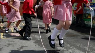 Primary pupils at play