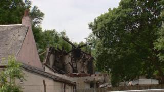 explosion site