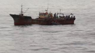 Иностранное судно, задержанное за добычу краба пограничной службой ФСБ в апреле этого года