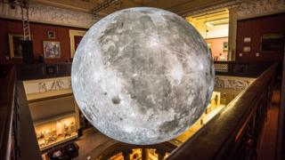 Museum of the Moon at Harris Museum, Preston
