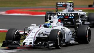 The Williams Martini cars of Felipe Massa and Valtteri Bottas