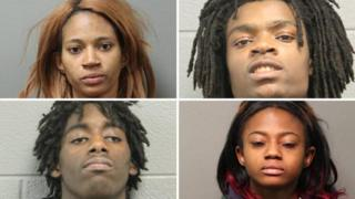 Mugshots of the four alleged attackers