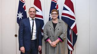 Dominic Raab and Marise Payne