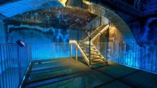 Underground Victorian Reservoir at Dunster Castle