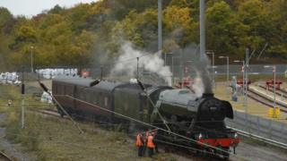 Flying Scotsman broken down at Peterborough