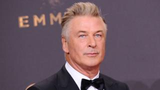 Alec Baldwin poses in the press room at the 69th annual Primetime Emmy Awards at Microsoft Theater on September 17