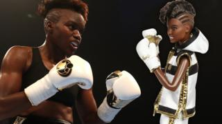 Nicola Adams with Barbie doll